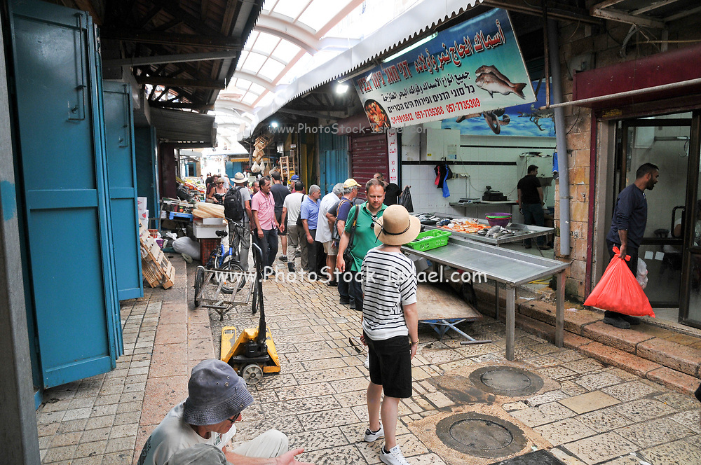 Israel, western Galilee, Acre, The Old City market fruit and vegetable stand