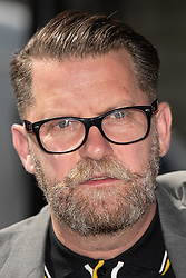 """© Licensed to London News Pictures . 06/05/2018. London, UK. GAVIN MCINNES . Supporters of alt-right and anti-Islam groups, including Generation Identity and the Democratic Football Lads Alliance, demonstrate at Whitehall in Westminster, opposed by anti-fascists. Speakers billed in the """"Day for Freedom"""" include former EDL leader Tommy Robinson, Milo Yiannopoulos, youtuber Count Dankula (Markus Meechan), For Britain leader Anne Marie Waters, UKIP leader Gerard Batten, Breitbart's Raheem Kassam and Lauren Southern. The event was originally planned as a march to Twitter's HQ in protest at their banning of Robinson and the Home Office's ban on Martin Sellner and Brittany Pettibone entering the UK, in what protesters describe as limits being imposed on free speech. Photo credit: Joel Goodman/LNP"""