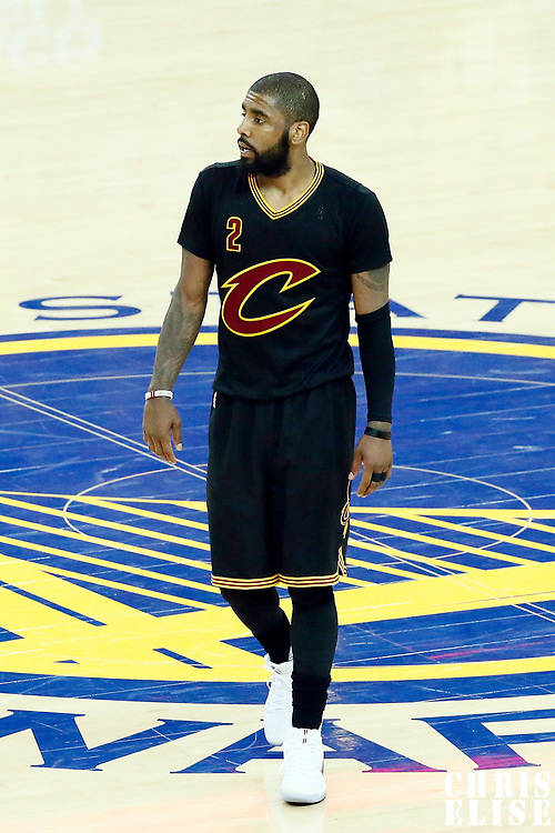 04 June 2017: Cleveland Cavaliers guard Kyrie Irving (2) is seen during the Golden State Warriors 132-113 victory over the Cleveland Cavaliers, in game 2 of the 2017 NBA Finals, at the Oracle Arena, Oakland, California, USA.