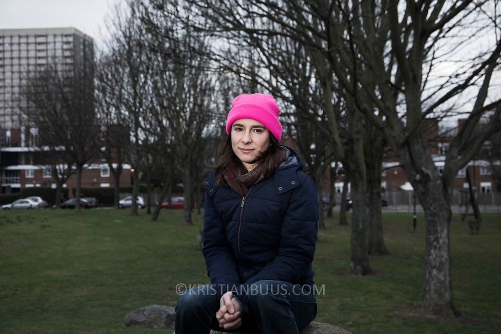 Melanie Strickland of the Stansted 15. Photographed in Bethnal Green, East London.