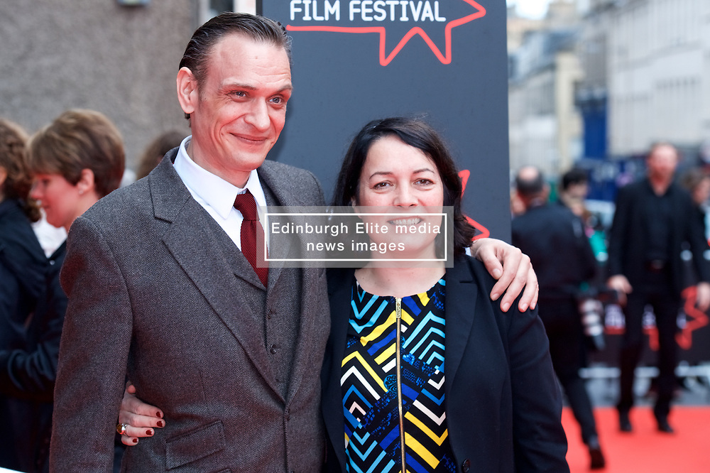 "Niall Fulton and Diane Henderson(Deputy Artistic Director), on the red carpet at the Edinburgh International Film Festival world Premier of ""England is Mine"" at Edinburgh's Festival Theatre. Sunday, 2nd July, 2017(c) Brian Anderson 
