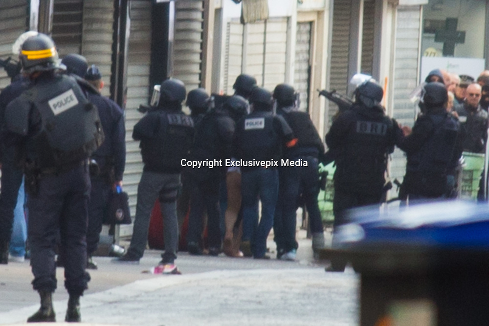 TAKING ASSAULTS POLICE FORCES ARREST SUSPECTS IN CONNECTION WITH ATTACKS OF 13 November 2015 IN THE CITY OF SAINT- DENIS . September people were arrested , TWO PEOPLE ARE DIED .<br /> &copy;Exclusivepix Media