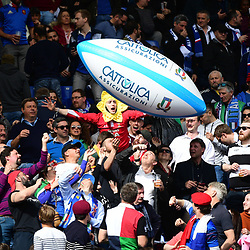A Wales fan in the crowd during the Guinness Six Nations match between Italy and France on March 16, 2019 in Rome, Italy. (Photo by Dave Winter/Icon Sport)