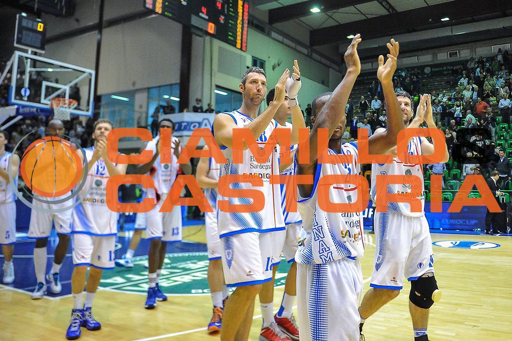 DESCRIZIONE : Eurocup 2013/14 Gir. B Dinamo Banco di Sardegna Sassari - Elan Chalon sur Saone<br /> GIOCATORE : Team<br /> CATEGORIA : Esultanza<br /> SQUADRA : Dinamo Banco di Sardegna Sassari<br /> EVENTO : Eurocup 2013/2014<br /> GARA : Dinamo Banco di Sardegna Sassari - Elan Chalon sur Saone<br /> DATA : 29/10/2013<br /> SPORT : Pallacanestro <br /> AUTORE : Agenzia Ciamillo-Castoria / Luigi Canu<br /> Galleria : Eurocup 2013/2014<br /> Fotonotizia : Eurocup 2013/14 Gir. B Dinamo Banco di Sardegna Sassari - Elan Chalon sur Saone<br /> Predefinita :
