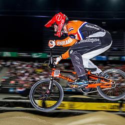 27-07-2014: Wielrennen: WK BMX : Rotterdam: BMX juniormen final Niek Kimman in the lead from start to finish