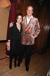 TOM KENYON-SLANEY and LUCY CAVENDISH at a dinner in aid of the charity 'Save The Rhino' at The Porchester Hall, Porchester Road, London W2 on 13th November 2008.