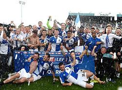 Bristol Rovers players celebrate wining promotion from Sky Bet League 2 up to Sky Bet League 1  - Mandatory by-line: Joe Meredith/JMP - 07/05/2016 - FOOTBALL - Memorial Stadium - Bristol, England - Bristol Rovers v Dagenham and Redbridge - Sky Bet League Two