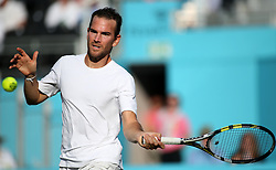 France's Adrian Mannarino during day four of the Fever-Tree Championship at the Queen's Club, London.
