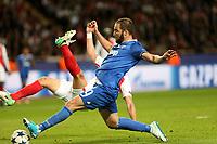 can - 02.05.2017 - Monaco - Champions League Semifinale -  Monaco-Juventus nella  foto: Gonzalo Higuain segna il gol del 2 a 0