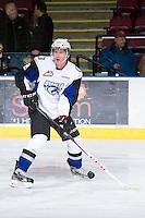 KELOWNA, CANADA - DECEMBER 5: Dillon Heatherington #2 of the Swift Current Broncos skates on the ice at the Kelowna Rockets on December 5, 2012 at Prospera Place in Kelowna, British Columbia, Canada (Photo by Marissa Baecker/Shoot the Breeze) *** Local Caption ***