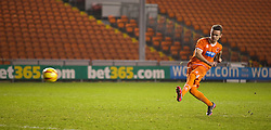 BLACKPOOL, ENGLAND - Wednesday, December 18, 2013: Blackpool's Dominic Telford misses his side's third penalty of the shoot-out against Liverpool to make the score 2-1 during the FA Youth Cup 3rd Round match at Bloomfield Road. (Pic by David Rawcliffe/Propaganda)