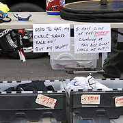 Bike parts seller's table at the 2011 Fall Bicycle Swap Meet, Tucson, Arizona. Bike-tography by Martha Retallick.