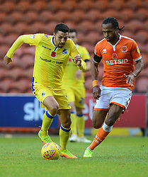 Liam Sercombe of Bristol Rovers battles for the ball with Nathan Delfouneso of Blackpool - Mandatory by-line: Alex James/JMP - 03/11/2018 - FOOTBALL - Bloomfield Road - Blackpool, England - Blackpool v Bristol Rovers - Sky Bet League One