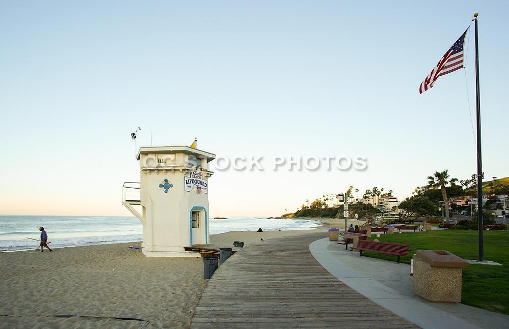 Main Beach Boardwalk in Laguna Beach California