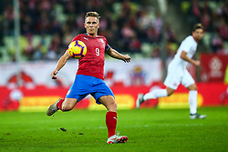 November 15, 2018 - Gdansk, Poland - Borek Dockal of Czech Republic during the international friendly soccer match between Poland and Czech Republic at Energa Stadium in Gdansk, Poland on 15 November 2018. (Credit Image: © Foto Olimpik/NurPhoto via ZUMA Press)