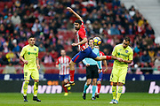 Atletico Madrid's Spanish forward Diego Costa kicks the ball during the Spanish Championship Liga football match between Atletico Madrid and Getafe on January 6, 2018 at the Wanda Metropolitano stadium in Madrid, Spain - Photo Benjamin Cremel / ProSportsImages / DPPI