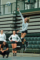 26 August 2017:  Kyleigh Block during the green-white scrimmage of the Illinois Wesleyan Titans in Shirk Center, Bloomington IL