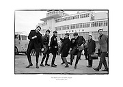 The Beatles at Dublin Airport, pictured with Frank Hall.<br />