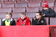 Young Blades fans during the EFL Sky Bet Championship match between Sheffield United and Nottingham Forest at Bramall Lane, Sheffield, England on 17 March 2018. Picture by Mick Haynes.