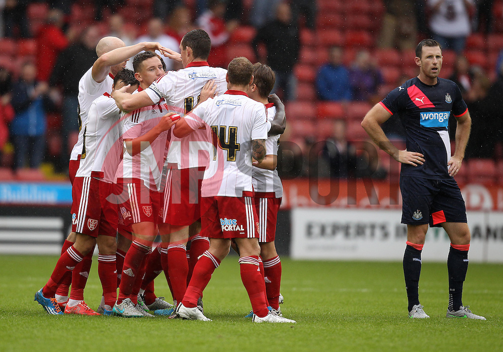 Sheffield United celebrate their late equaliser - Mandatory by-line: Robbie Stephenson/JMP - 26/07/2015 - SPORT - FOOTBALL - Sheffield,England - Bramall Lane - Sheffield United v Newcastle United - Pre-Season Friendly