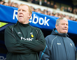 BOLTON, ENGLAND - Sunday, March 2, 2008: Bolton Wanderers' manager Gary Megson and assistant coach Archie Knox before the Premiership match against Liverpool at the Reebok Stadium. (Photo by David Rawcliffe/Propaganda)