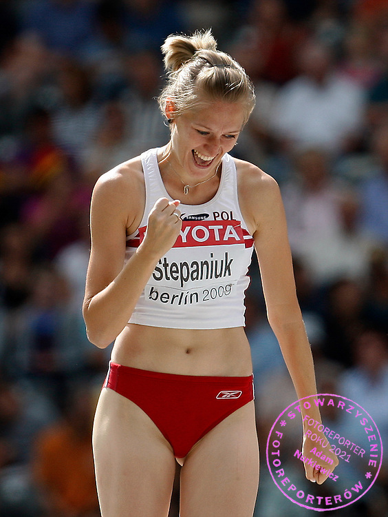 BERLIN 18/08/2009.12th IAAF World Championships in Athletics Berlin 2009.High Jump Women Qualification.Kamila Stepaniuk of Poland ..Phot: Piotr Hawalej / WROFOTO