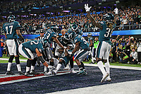 Philadelphia Eagles running back Corey Clement (30) catches a touchdown during the third quarter of Super Bowl LII between the New England Patriots and the Philadelphia Eagles held at U.S. Bank Stadium in Minneapolis, Minnesota on February 4, 2018.<br /> <br />  (Tom DiPace via AP )