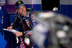 May 10, 2019 - Imola, BO, Italy - Alex Lowes of Pata Yamaha WorldSBK Team at box during the free practice 1 of the Motul FIM Superbike Championship, Italian Round, at International Circuit ''Enzo and Dino Ferrari'', on May 10, 2019 in Imola, Italy  (Credit Image: © Danilo Di Giovanni/NurPhoto via ZUMA Press)