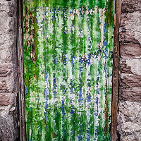 Colorful old worn doors in Southwest Bolivia.