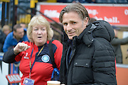 Wycombe Wanderers manager Gareth Ainsworth during the Sky Bet League 2 match between Wycombe Wanderers and Barnet at Adams Park, High Wycombe, England on 16 April 2016. Photo by Dennis Goodwin.