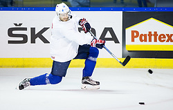 Jan Mursak of Slovenia during practice session of Team Slovenia at the 2017 IIHF Men's World Championship, on May 8, 2017 in Accorhotels Arena in Paris, France. Photo by Vid Ponikvar / Sportida