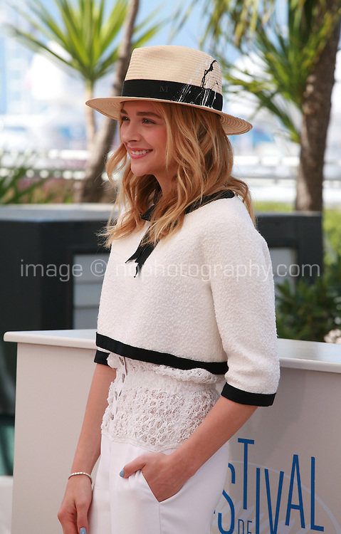 Actress Chloé Grace Moretz at the photo call for the film Sils Maria at the 67th Cannes Film Festival, Friday 23rd May 2014, Cannes, France.