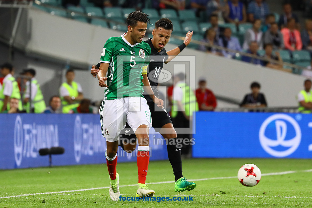 Diego Reyes of Mexico and Dane Ingham of New Zealand during the 2017 FIFA Confederations Cup match at Fisht Stadium, Sochi<br /> Picture by EXPA Pictures/Focus Images Ltd 07814482222<br /> 22/06/2017<br /> *** UK &amp; IRELAND ONLY ***<br /> <br /> EXPA-EIB-170622-0051.jpg