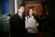 ALEX JAMES AND CLARE JAMES, Royal  Academy of  Arts summer exhibition opening night. Royal academy. Piccadilly. London. 6 June 2007.  -DO NOT ARCHIVE-© Copyright Photograph by Dafydd Jones. 248 Clapham Rd. London SW9 0PZ. Tel 0207 820 0771. www.dafjones.com.