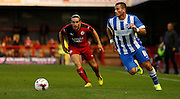 Tomer Hemed on the ball during the Pre-Season Friendly match between Crawley Town and Brighton and Hove Albion at the Checkatrade.com Stadium, Crawley, England on 22 July 2015. Photo by Michael Hulf.