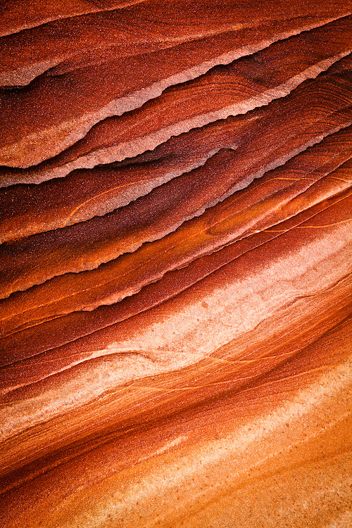 Countless years of erosion have sculpted the Wave. Coyote Buttes North permit area, Vermilion Cliffs National Monument in Arizona.