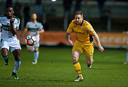 NEWPORT, WALES - Wednesday, December 21, 2016: Newport County's Darren Jones in action against Plymouth Argyle during the FA Cup 2nd Round Replay match at Rodney Parade. (Pic by David Rawcliffe/Propaganda)