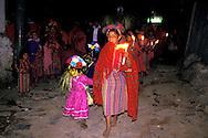 Guatemala. holy week; Easter celebrations  /  IN ZUNIL  /  WOMEN PROCESSION FOR HOLY THURSDAY  /  Procession des femmes dans la nuit du Jeudi Saint   /    Zunil  Guatemala       /   A la Procession des FEMMES le Jeudi Saint ? Zunil   /  Zunil  Guatemala    /  R00009/10    L0007019  /  R00009  /  P0004109