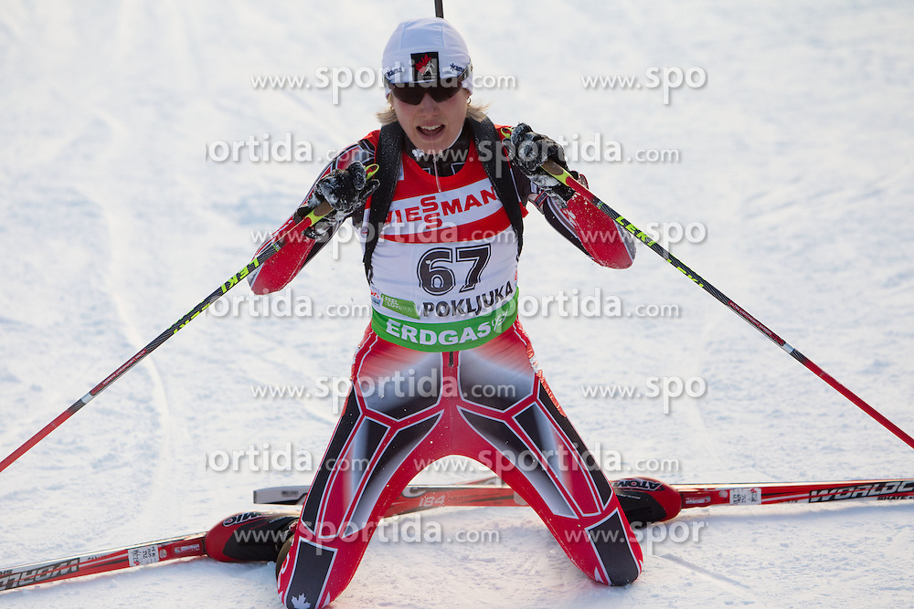Zina Kocher of Canada during the Women 7,5 km Sprint of the e.on IBU Biathlon World Cup on Saturday, December 18, 2010 in Pokljuka, Slovenia. The fourth e.on IBU World Cup stage is taking place in Rudno polje - Pokljuka, Slovenia until Sunday December 19, 2010. (Photo By Vid Ponikvar / Sportida.com)