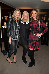 "Left to right, KIM HERSOV, AMANDA ELIASCH and HEATHER KERZNER at a private screening Of ""The Gun, The Cake and The Butterfly"" hosted by Amanda Eliasch at The Bulgari Hotel, 171 Knightsbridge, London on 24th March 2014."