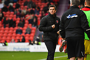 Joey Barton, Manager of Fleetwood Town in action during the EFL Sky Bet League 1 match between Doncaster Rovers and Fleetwood Town at the Keepmoat Stadium, Doncaster, England on 6 October 2018.