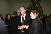 Jonny Shand Kydd and Christopher Bailey, Work by Mexican artist, Gabriel Orozco. Gallery opening & private view at new White Cube space, 25-26 Mason's Yard, London and afterwards at Claridges. London. 27 September 2006. <br /> -DO NOT ARCHIVE-© Copyright Photograph by Dafydd Jones 66 Stockwell Park Rd. London SW9 0DA Tel 020 7733 0108 www.dafjones.com