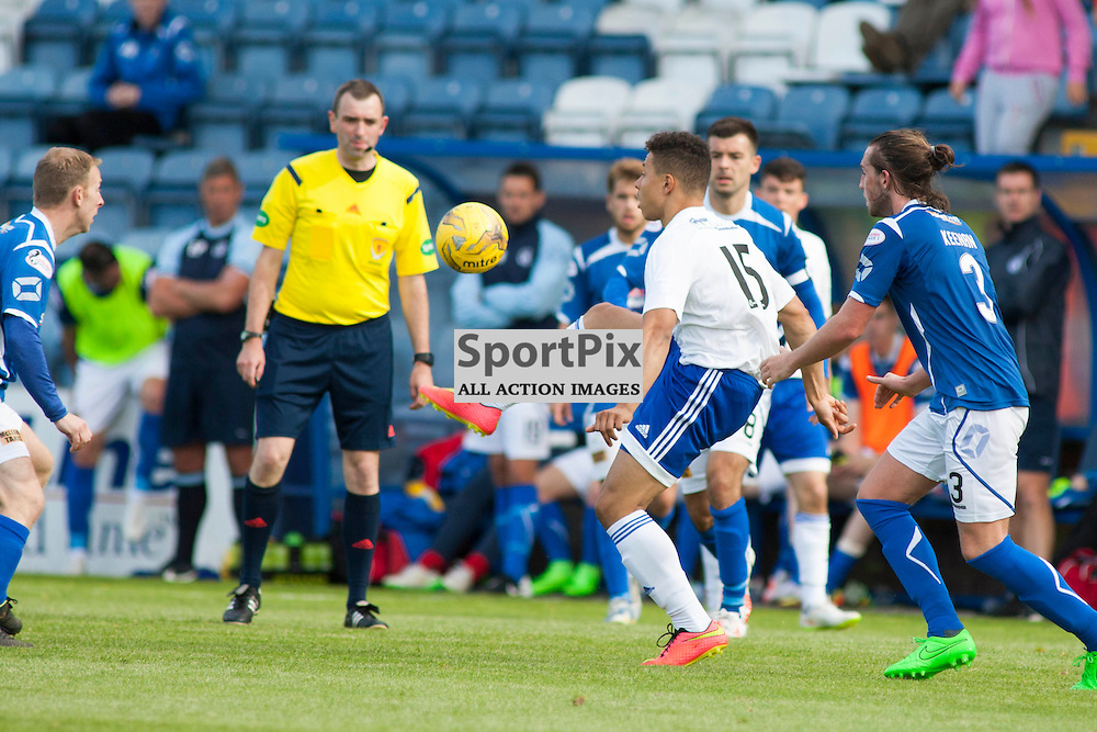 Leighton McIntosh (Peterhead 15) cshows some skill in the Stranraer v Peterhead Ladbrokes SPFL Scottish Division 1 at Stair Park in Stranraer 15 August 2015<br />