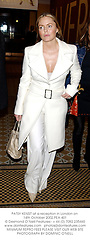 PATSY KENSIT at a reception in London on 14th October 2002.PEA 401