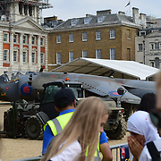 London,UK. 4th July 2018. 100 years of the British Royal Air Force display at St James Palace.