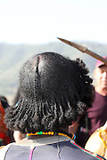 Africa, Ethiopia, Lalibela, Woman with plaited hair