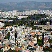 A panoramic view of the City of Athens, Greece. 23rd July 2011. Photo Tim Clayton