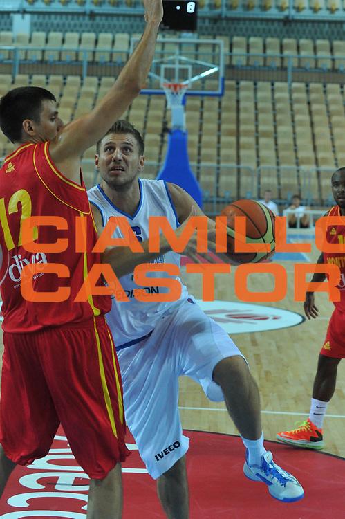 DESCRIZIONE : Koper Capodistria Amichevole Italia Montenegro<br /> GIOCATORE : stefano mancinelli<br /> CATEGORIA : tiro<br /> SQUADRA : Nazionale Italia Maschile<br /> EVENTO :  Amichevole Italia Montenegro<br /> GARA : Italia Montenegro<br /> DATA : 22/08/2013<br /> SPORT : Pallacanestro<br /> AUTORE : Agenzia Ciamillo-Castoria/M.Gregolin<br /> Galleria : FIP Nazionali 2013<br /> Fotonotizia : Koper Capodistria Amichevole Italia Montenegro<br /> Predefinita :