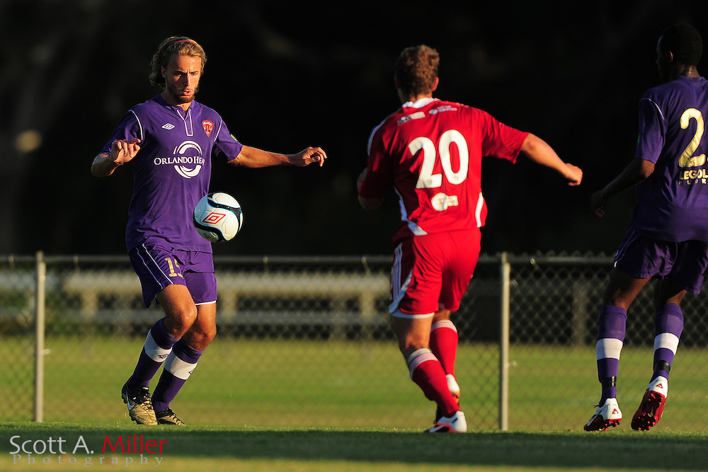 Orlando City's Ryan Griffin (15) in action during the Lions game against the Panama City Beach Pirates in their Premier Development League game at the Seminole Soccer Complex on May 19, 2012 in Sanford, Fla. ..©2012 Scott A. Miller.