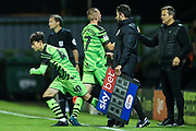 Forest Green Rovers Dan Jones comes on to make his competitive debut  during the EFL Trophy match between Forest Green Rovers and U21 Southampton at the New Lawn, Forest Green, United Kingdom on 3 September 2019.